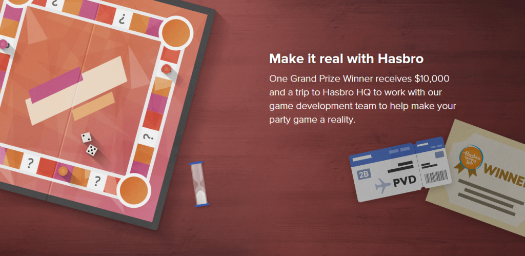Hasbro Game Lab Contest Banner